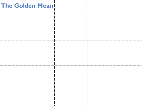 Golden Mean applied